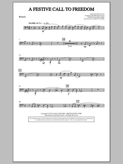 A Festive Call to Freedom - Bassoon (Choir Instrumental Pak)