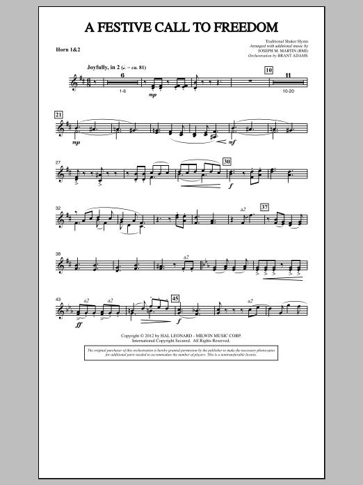 A Festive Call to Freedom - F Horn 1,2 (Choir Instrumental Pak)