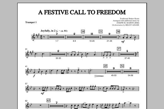 A Festive Call to Freedom - Trumpet 1 (Choir Instrumental Pak)