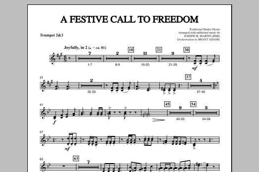 A Festive Call to Freedom - Bb Trumpet 2,3 (Choir Instrumental Pak)