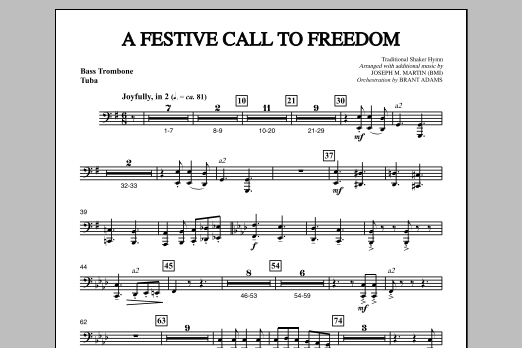A Festive Call to Freedom - Bass Trombone/Tuba (Choir Instrumental Pak)
