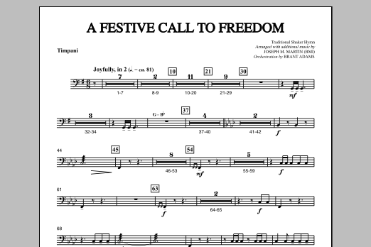 A Festive Call to Freedom - Timpani (Choir Instrumental Pak)