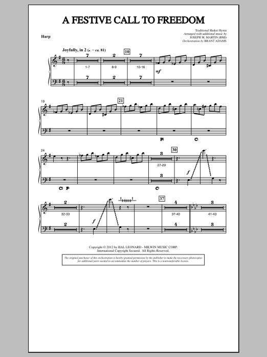 A Festive Call to Freedom - Harp (Choir Instrumental Pak)