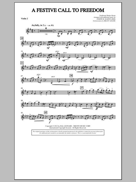 A Festive Call to Freedom - Violin 2 (Choir Instrumental Pak)