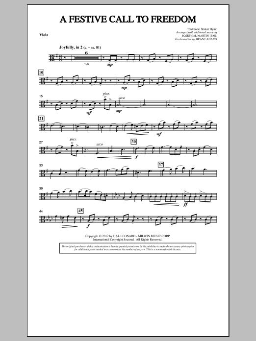A Festive Call to Freedom - Viola (Choir Instrumental Pak)