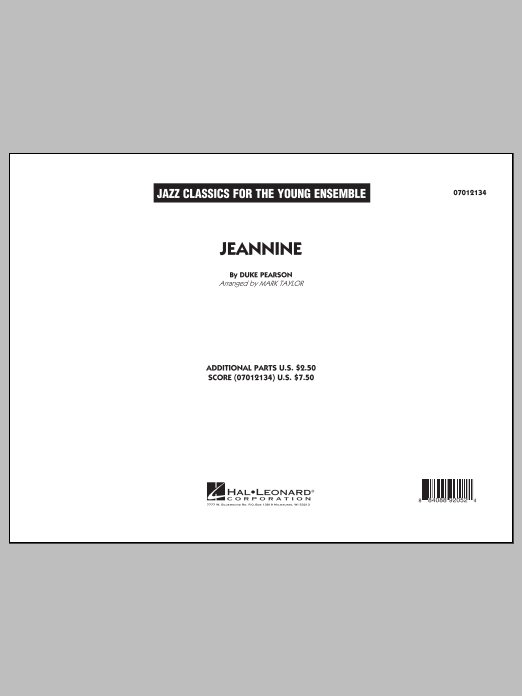 Jeannine (COMPLETE) sheet music for jazz band by Mark Taylor and Cannonball Adderley. Score Image Preview.