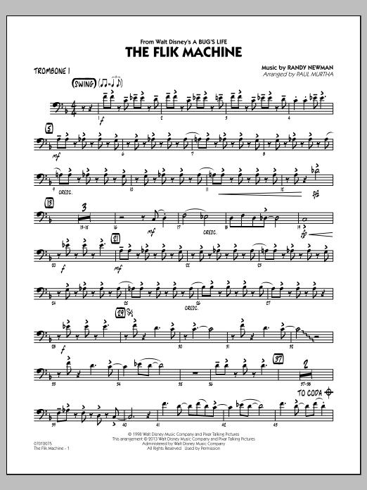 The Flik Machine (from A Bug's Life) - Trombone 1 (Jazz Ensemble)