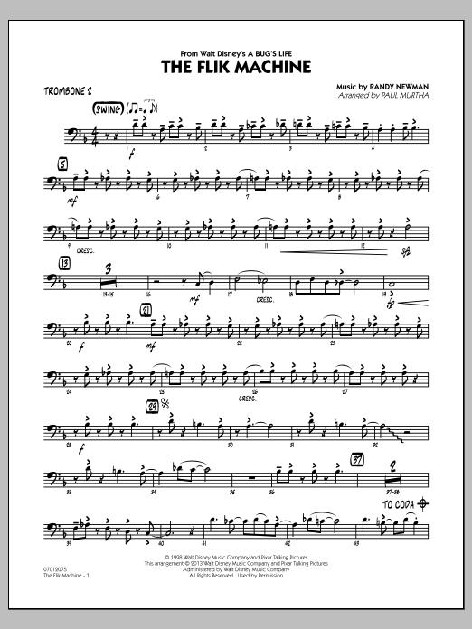 The Flik Machine (from A Bug's Life) - Trombone 2 (Jazz Ensemble)