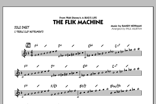 The Flik Machine (from A Bug's Life) - C Solo Sheet (Jazz Ensemble)