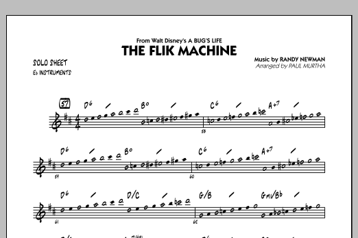 The Flik Machine (from A Bug's Life) - Eb Solo Sheet (Jazz Ensemble)