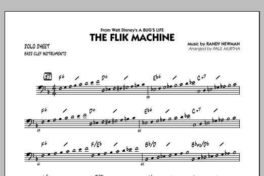 The Flik Machine (from A Bug's Life) - C Bass Clef Solo (Jazz Ensemble)