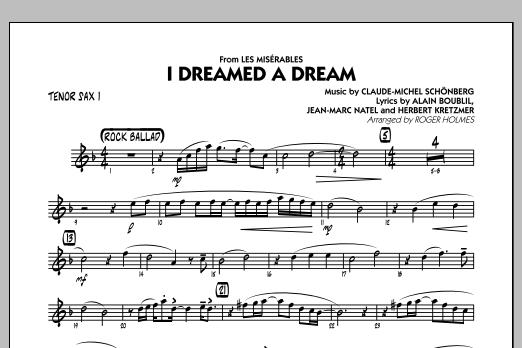 I Dreamed a Dream (from Les Miserables) - Tenor Sax 1 (Jazz Ensemble)