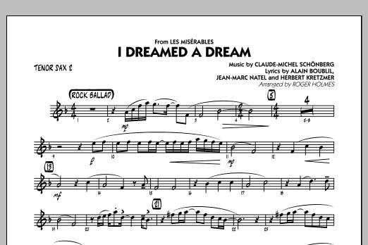 I Dreamed a Dream (from Les Miserables) - Tenor Sax 2 (Jazz Ensemble)