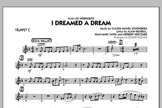 I Dreamed a Dream (from Les Miserables) - Trumpet 2 (Jazz Ensemble)