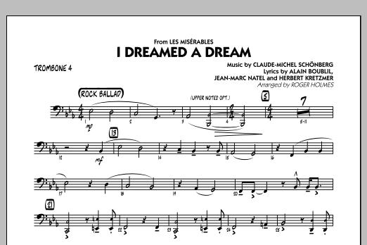 I Dreamed a Dream (from Les Miserables) - Trombone 4 (Jazz Ensemble)