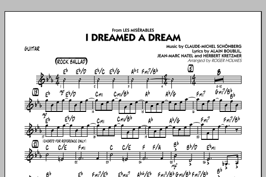 I Dreamed a Dream (from Les Miserables) - Guitar (Jazz Ensemble)
