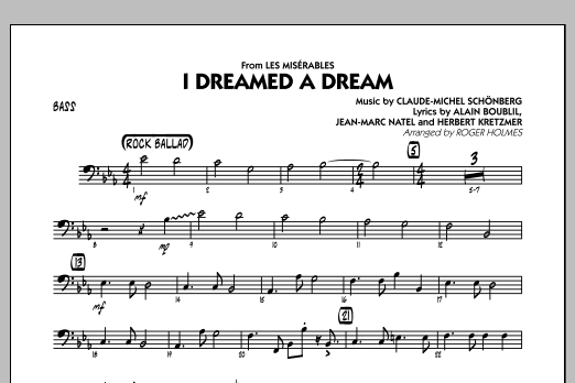 I Dreamed a Dream (from Les Miserables) - Bass (Jazz Ensemble)
