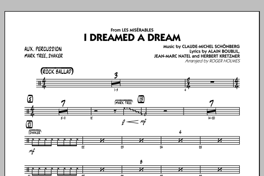I Dreamed a Dream (from Les Miserables) - Aux Percussion (Jazz Ensemble)