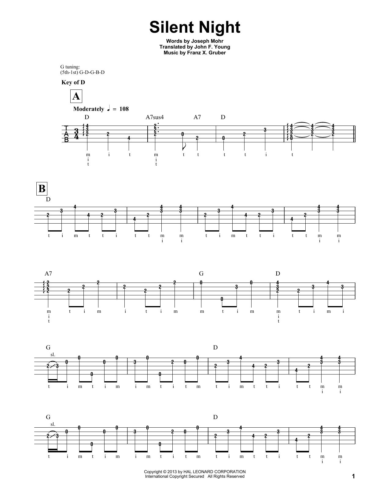 Silent Night (Banjo Tab)