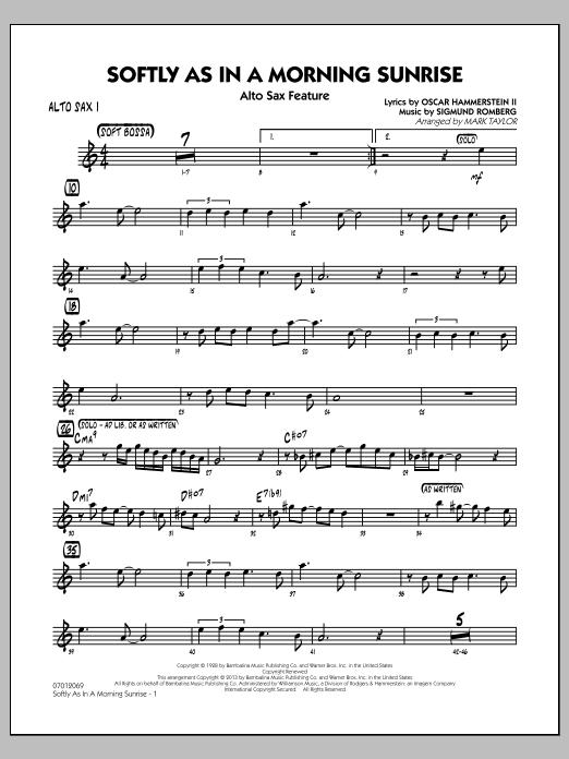 Softly as in a Morning Sunrise - Alto Sax 1 (Jazz Ensemble)