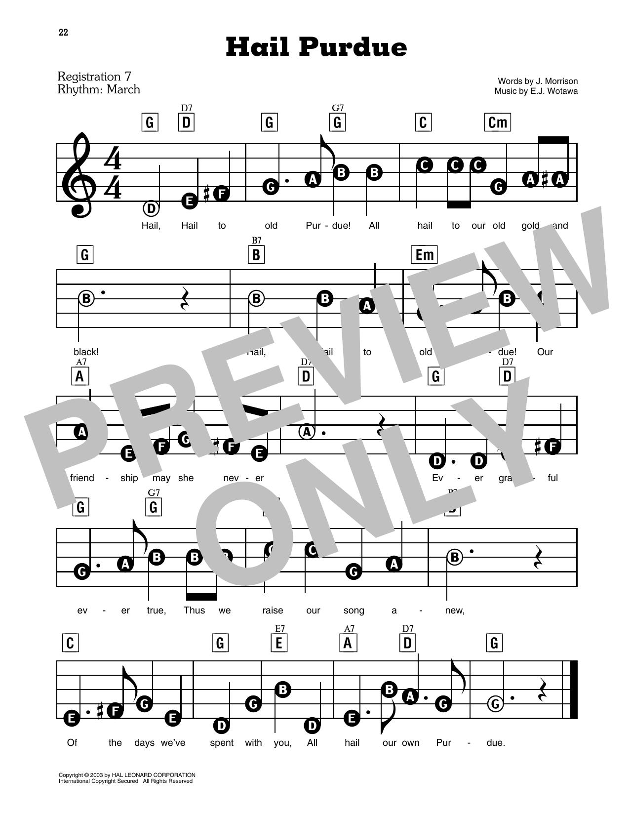 Hail Purdue (E-Z Play Today)