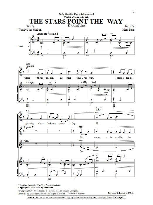 The Stars Point The Way Sheet Music