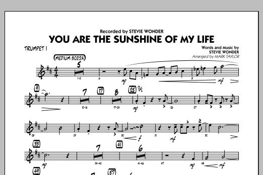 You Are the Sunshine of My Life (Key: C) - Trumpet 1 (Jazz Ensemble)