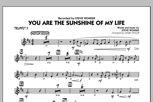 You Are the Sunshine of My Life (Key: C) - Trumpet 3 (Jazz Ensemble)