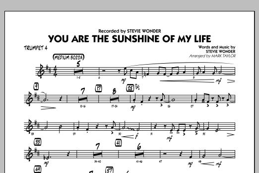 You Are the Sunshine of My Life (Key: C) - Trumpet 4 (Jazz Ensemble)