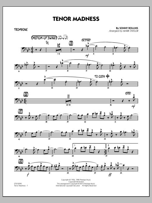 Tenor Madness - Trombone (Jazz Ensemble)