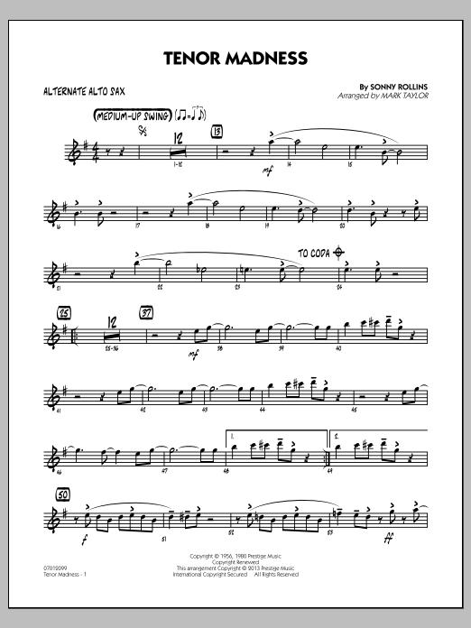 Tenor Madness - Alternate Alto Sax (Jazz Ensemble)