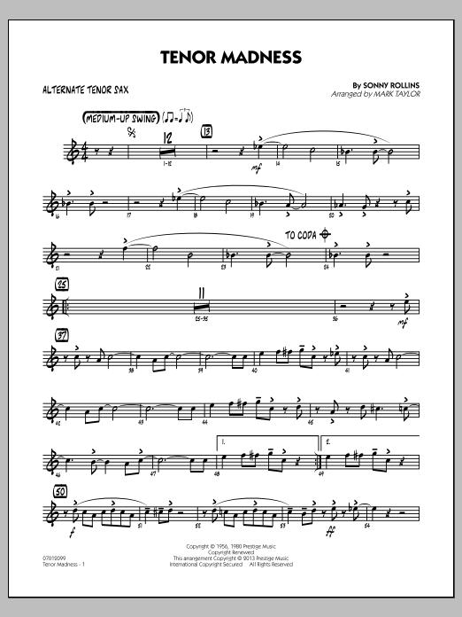 Tenor Madness - Alternate Tenor Sax (Jazz Ensemble)