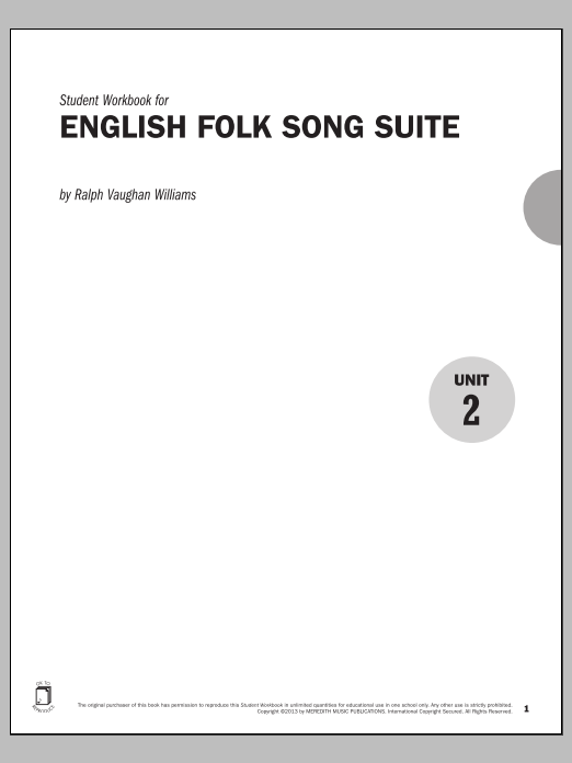 Guides to Band Masterworks, Vol. 3 - Student Workbook - English Folk Song Suite Sheet Music