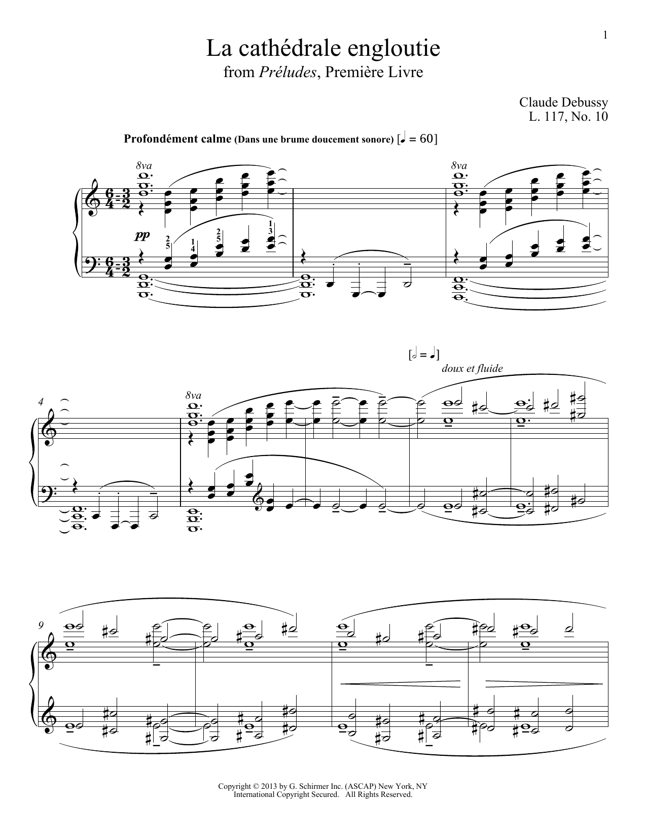 Partition piano La Cathedrale Engloutie de Christopher Harding - Piano Solo