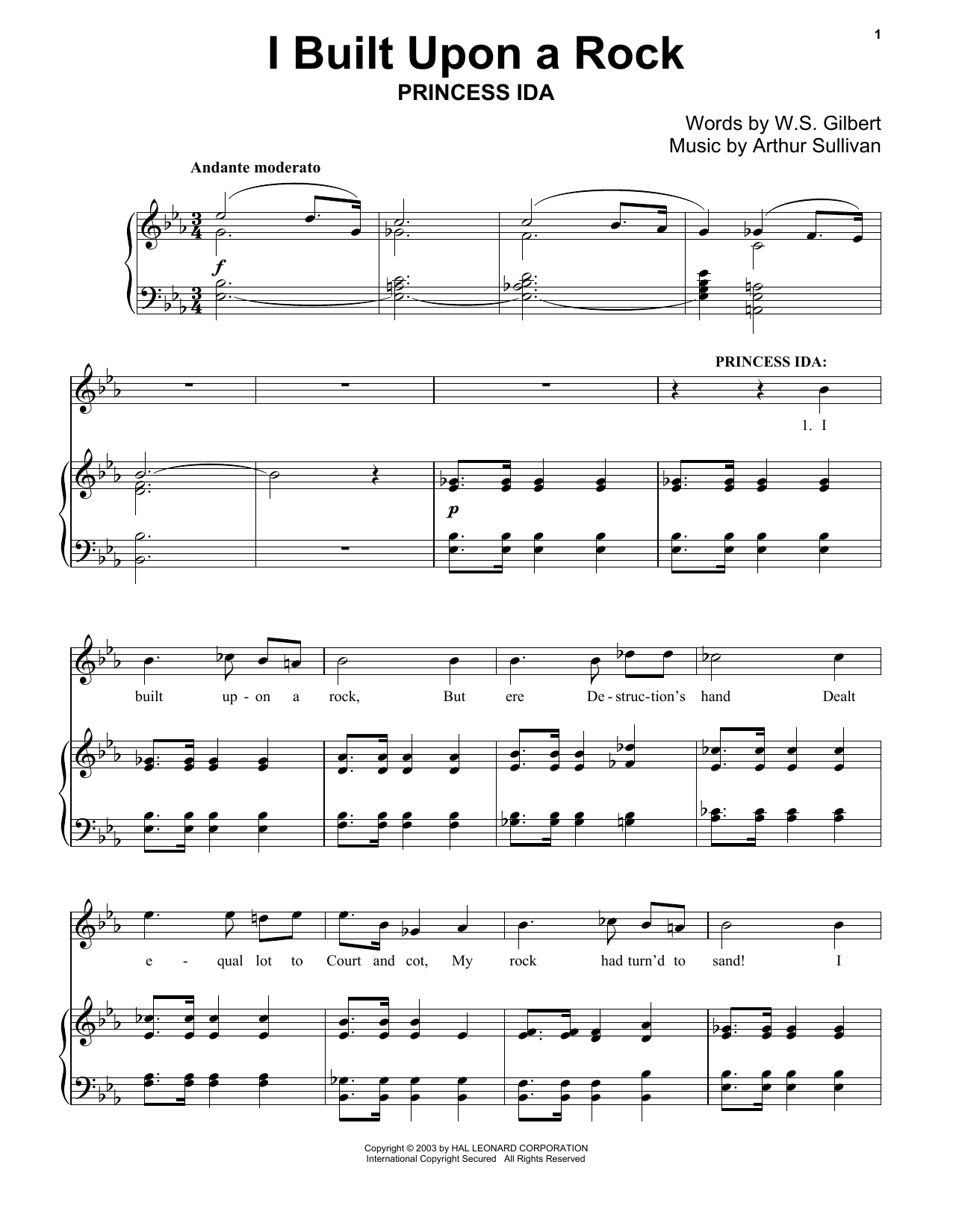 I Built Upon A Rock Sheet Music