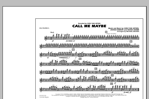 Call Me Maybe - Flute/Piccolo (Marching Band)