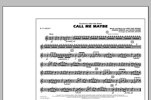 Call Me Maybe - Bb Clarinet (Marching Band)