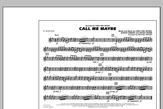 Call Me Maybe - Eb Alto Sax (Marching Band)