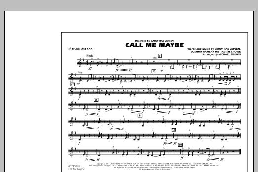 Call Me Maybe - Eb Baritone Sax (Marching Band)