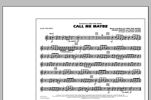 Call Me Maybe - 2nd Bb Trumpet (Marching Band)