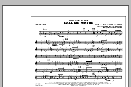 Call Me Maybe - 3rd Bb Trumpet (Marching Band)