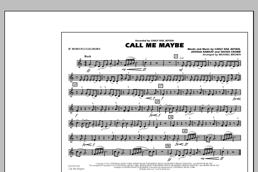 Call Me Maybe - Bb Horn/Flugelhorn (Marching Band)