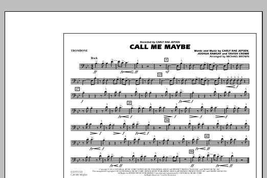 Call Me Maybe - Trombone (Marching Band)
