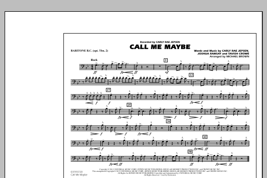 Call Me Maybe - Baritone B.C. (Opt. Tbn. 2) (Marching Band)