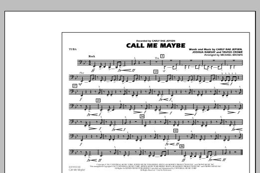 Call Me Maybe - Tuba (Marching Band)