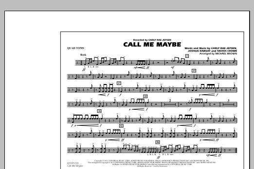Call Me Maybe - Quad Toms (Marching Band)