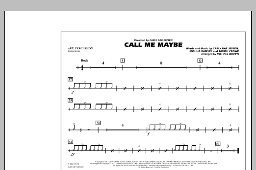 Call Me Maybe - Aux Percussion (Marching Band)