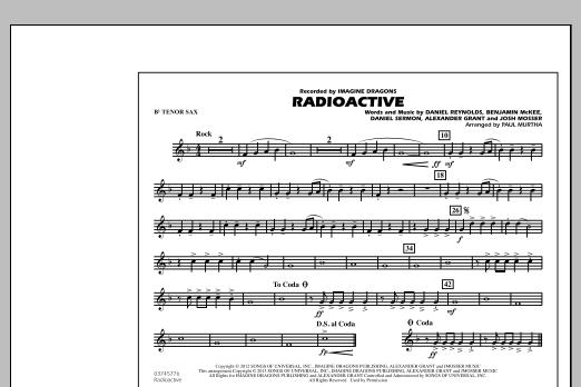 Radioactive - Bb Tenor Sax (Marching Band)