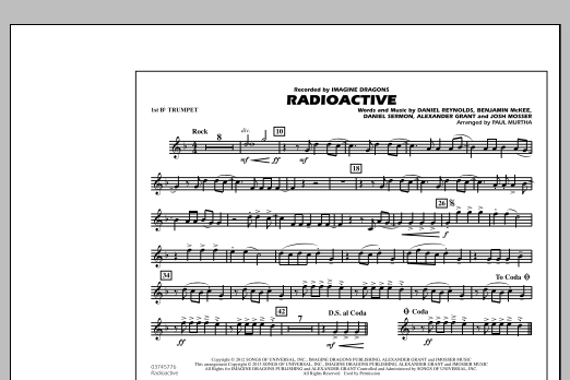 Radioactive - 1st Bb Trumpet (Marching Band)