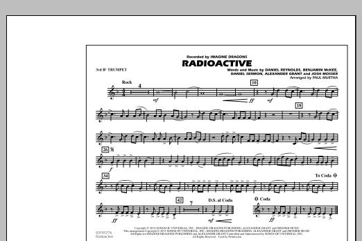 Radioactive - 3rd Bb Trumpet (Marching Band)